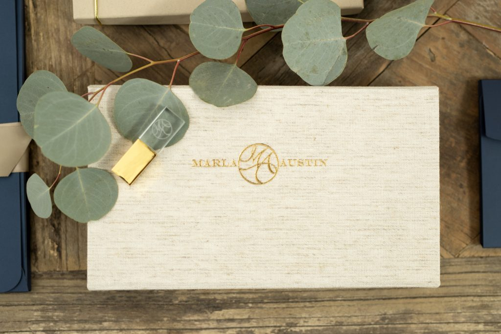 Linen Fabric Flash and Print Box