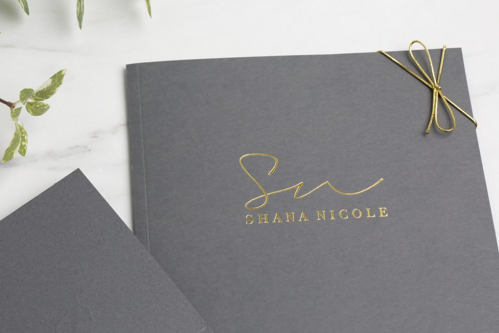 Slate Photo Case with Foil Stamping