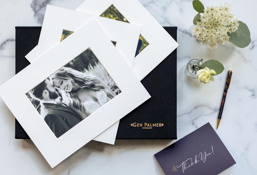 Fabric Flash and Print Box with Archival Portfolio Mats